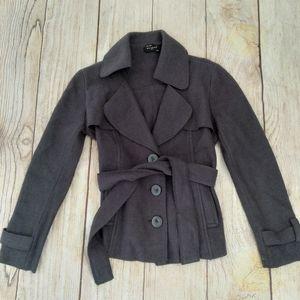 Sandro boiled wool gray jacket sz PS